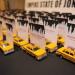 NYC Themed Bar Mitzvah-Taxi Cab Place Cards Made by Events by Amy
