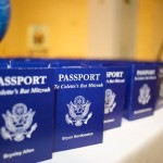 Travel Themed Bat Mitzvah - Passport Place Cards