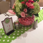 polka dot theme party table