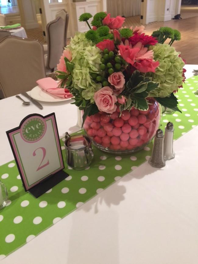 polka dot theme party table