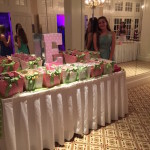 polka dot theme candy bar