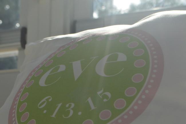 logo on pillow
