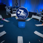 Swim theme centerpiece - Photo by Get the Picture Productions