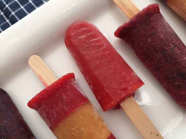 Fresh Strawberry Popsicle