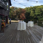 deck for rustic wedding