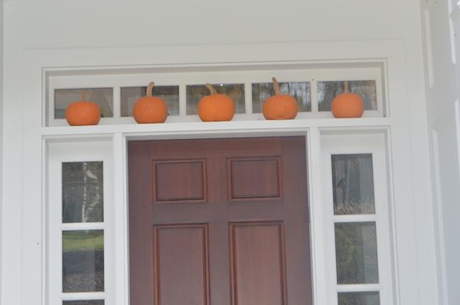Pumpkins over the Front Door