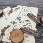 Coloring books for rustic wedding