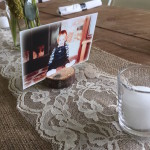 table number for rustic wedding
