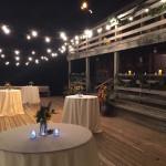 Deck of rustic wedding