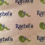 Step and Repeat Sign up close with the logo of the Book Themed Party