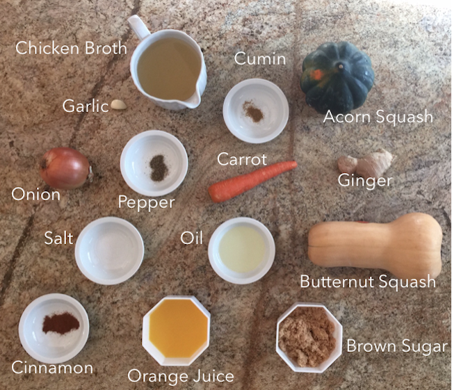 Ginger Squash Soup Ingredients