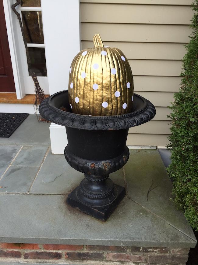 Glamour Gold Polka Dot Pumpkin