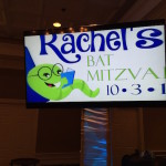 Book Themed Logo for Bat Mitzvah on Plasmas
