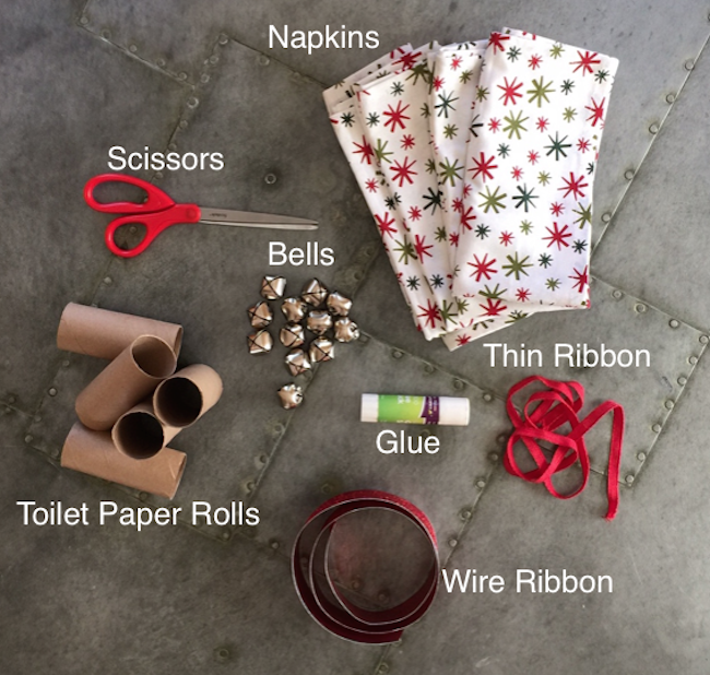 Supplies for Jingle Bell Napkin Rings