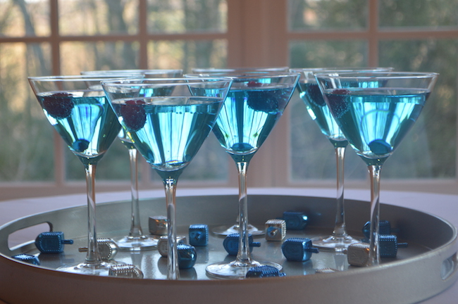 Tray of Hanukkah Martinis