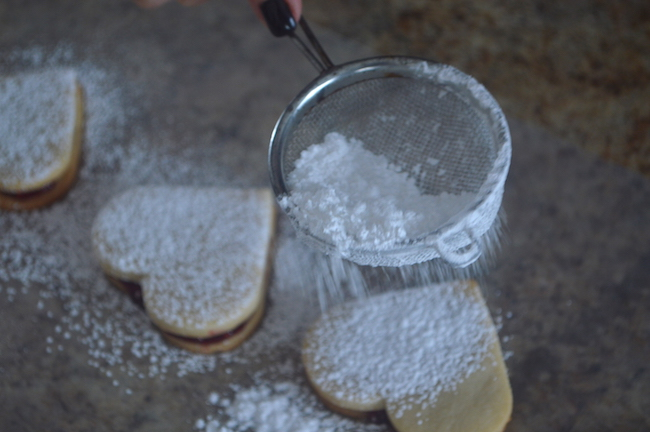 Covering Cookies with Sugar
