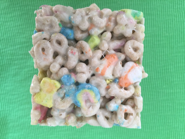 One Lucky Charms Square for St. Patrick's Day