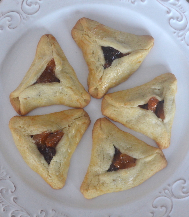Finished Hamentashen Cookies