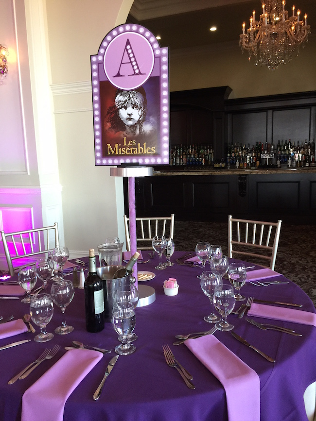 Broadway themed party decor