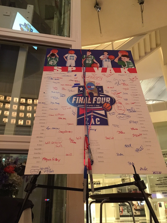 Final Four Themed Bar Mitzvah Party Sign in Board