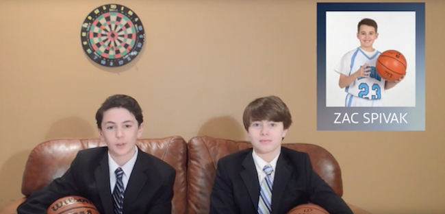 Zac's Surprise Basketball Recruiting Bar Mitzvah Video