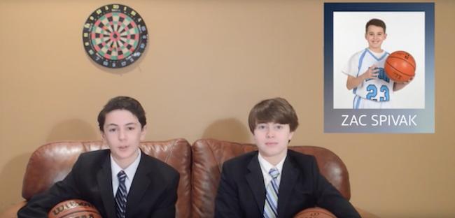 Zac's Surprise Basketball Recruiting Bar Mitzvah Video
