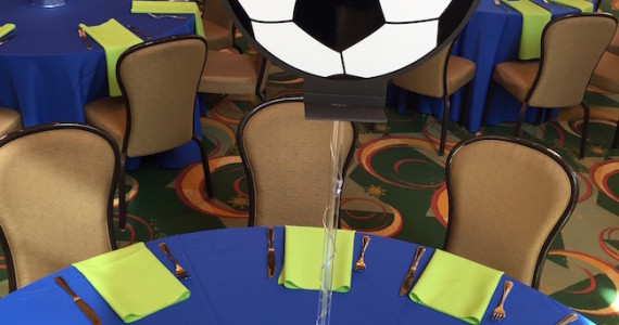Soccer Themed Bat Mitzvah Party