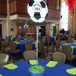 Soccer themed Bat Mitzvah