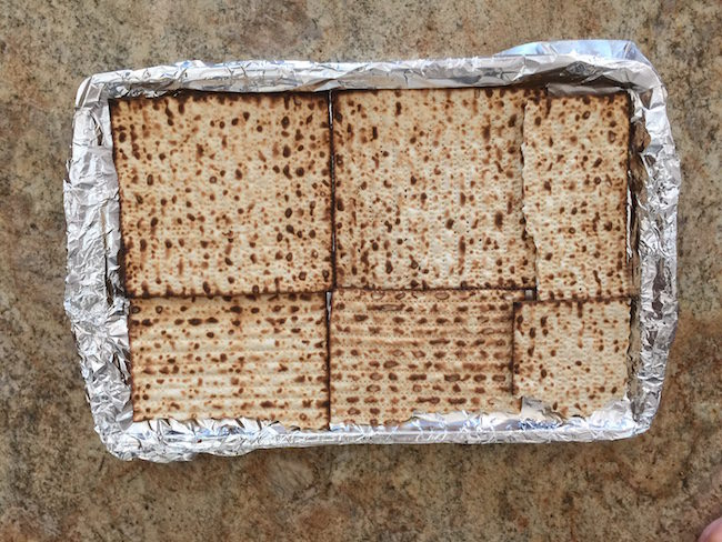 matzoh on tinfoil