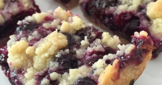 Blueberry Pie Crumble Bars