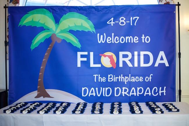Florida Themed Bar Mitzvah Party